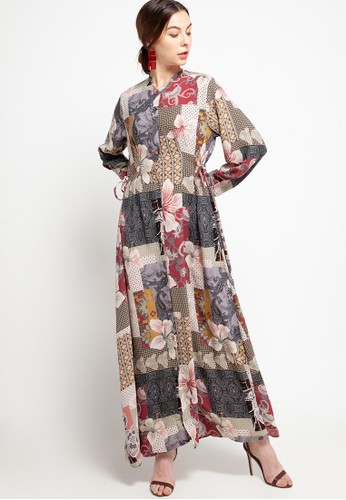 Covering Story red Rose Dress - A A6C22AAE6D3938GS_1