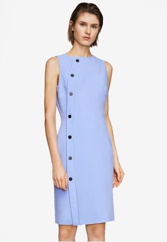 Mango blue Buttoned Dress C57DCAAAC9DC2FGS_1
