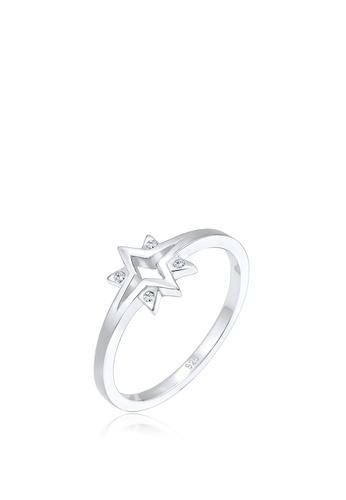 ELLI GERMANY silver Ring Stars Starburst Crystals 339DFAC230E934GS_1