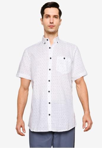 LC Waikiki beige Patterned Short Sleeves Shirt F9C52AA6AA31EDGS_1