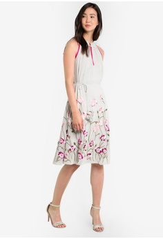 60b1ded306 58% OFF Miss Selfridge Premium Tie Shoulder Embroidered Camisole Dress S   236.00 NOW S  98.90 Sizes 6 8 10 12