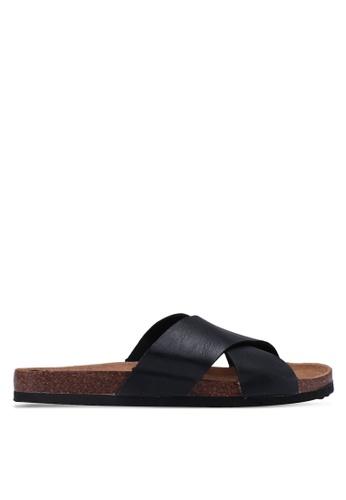 Rubi black Rex X Over Slide Sandals 937F8SHDFDE213GS_1