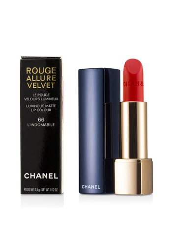 CHANEL CHANEL - Rouge Allure Velvet - # 66 L'Indomabile 3.5g/0.12oz 22A3DBE9EC5780GS_1