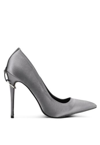 Something Borrowed grey Metal Detail Heels 1027ESH60B7DFEGS_1