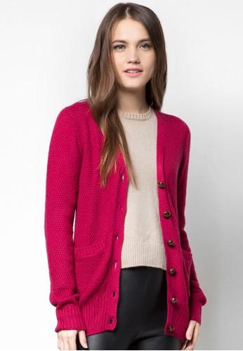 羊毛針織鈕esprit地址扣外套, 服飾, 毛衣& 針織外套