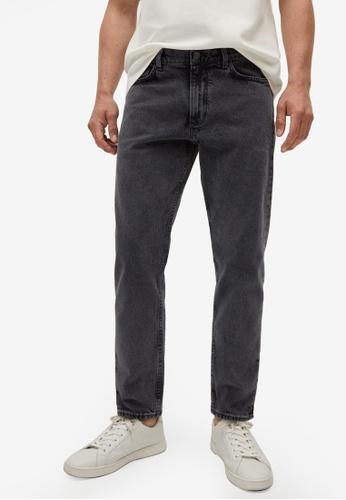 MANGO Man 灰色 Ben Tapered-Fit Jeans 79FD6AA63E19A1GS_1