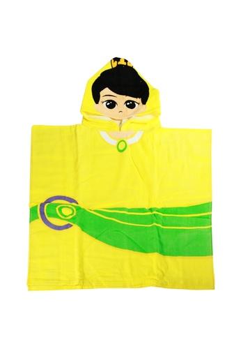 UPIN & IPIN yellow Puteri Hooded Towel 14C4CKC9251EA7GS_1