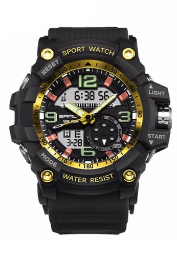 SANDA gold SANDA 759 G Style Military Waterproof Outdoor Sports Men's Shockproof Digital Watch (Black Gold) SA708AC0RXELMY_1