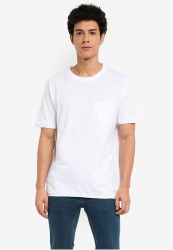 MANGO Man 白色 短袖素色T恤 F91FDAAC4DCF32GS_1