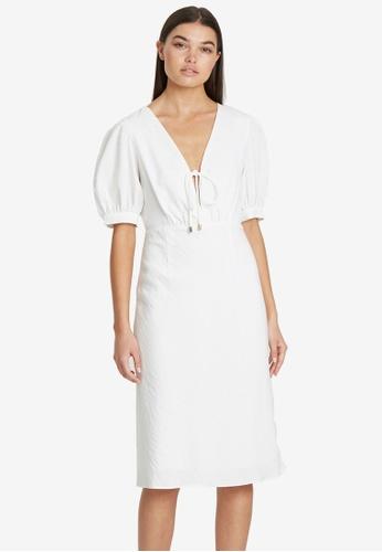 Tussah white Fabienne Midi Dress 6971FAA1327D38GS_1