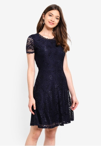 ONLY navy Mystery Lace Short Sleeve Dress 08851AA6FC7939GS_1