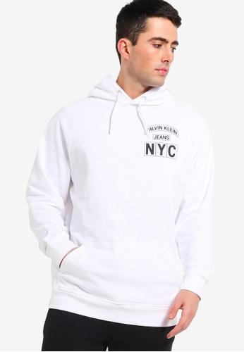 Calvin Klein 白色 CK Badge Nyc 帽T D3429AA13F7E19GS_1