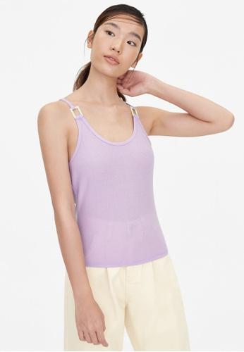 Pomelo purple Cross Back Oval Neck Cami - Lilac BE82FAA0491D01GS_1