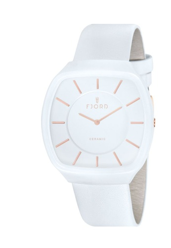 Fjord white Fjord URSA Men's White Genuine Leather Strap Watch FJ557AC19VQYHK_1