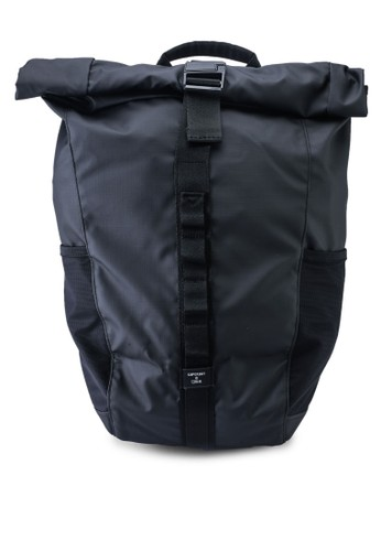 Superdry black NYC Rolltop Backpack 8EC9FACE76F6E0GS_1