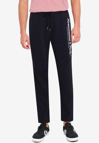 Abercrombie & Fitch black Tech Logo Classic Global Pants 467B7AA5DB3251GS_1