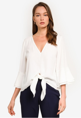 REUX white Tilly Tie Top 3863EAA936FE43GS_1