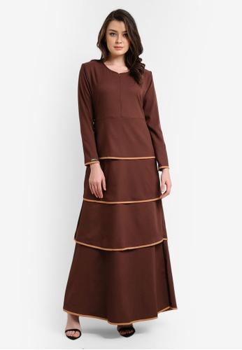 JubahSouq brown Valeria Dress 2.0 JU399AA0RTR8MY_1
