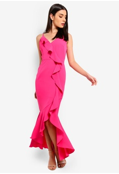 65944bea30d Preen   Proper pink Cascade Ruffle Maxi Dress 0ED85AA727C9D1GS 1