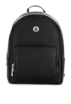 d2b9e22274 Tommy Hilfiger black Th Core Solid Tone Faux Leather Backpack  D5149AC7D97840GS_1