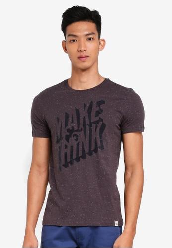 OVS 黑色 短袖印花T恤 DF5DEAAAE51544GS_1