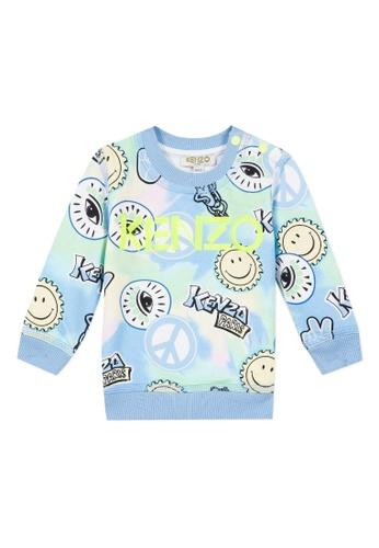 KENZO KIDS yellow and green and blue and multi KENZO BABY BOYS SWEATSHIRT 55C94KA1A6863DGS_1