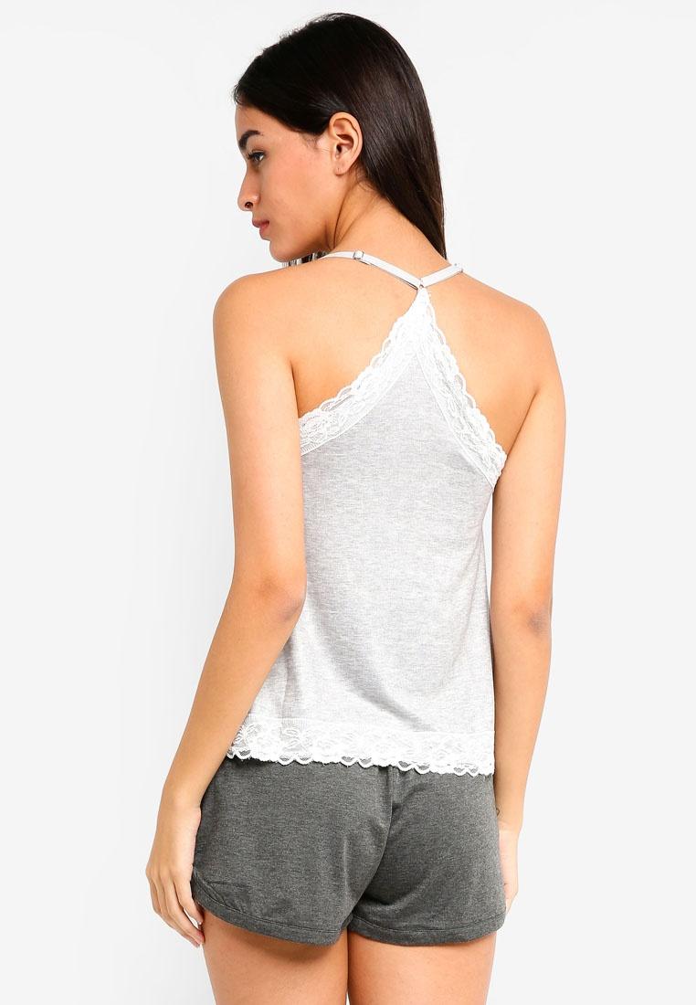 Loungewear Dorothy Grey Perkins Lace Grey Cami wr7CEqYrxn