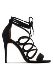 ZALORA black Swirl Lace Up Heels 561A5SH76DABCCGS_1