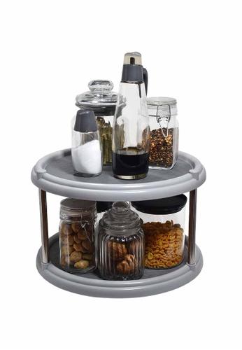 Slique grey Premium 2 Layer Lazy Susan Kitchen Essential 552E8HL67245C3GS_1