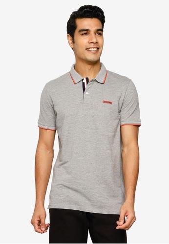 Jack & Jones grey London Polo Shirt 2C058AA16C9A37GS_1