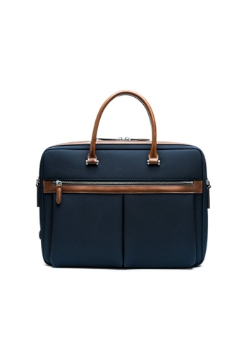 Maverick & Co. blue and navy Maverick & Co. Vibrant Voyage Briefcase Navy C86EAAC55E3C0CGS_1