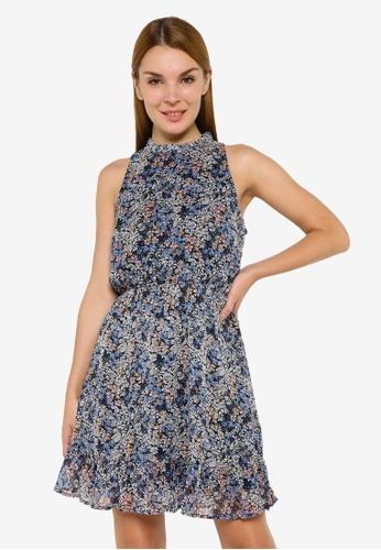 JACQUELINE DE YONG multi Larisa Halterneck Dress D0370AA79F2635GS_1