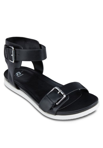 扣京站 esprit環寬帶繞踝涼鞋, 女鞋, 鞋