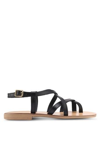 TOPSHOP black Hot Stuff Strappy Sandals AAB3ASH9E4902EGS_1
