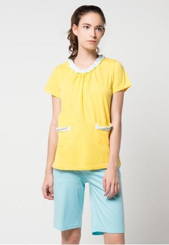PUPPY yellow and blue Dahlia Sleepwear PU643AA11JLCID_1
