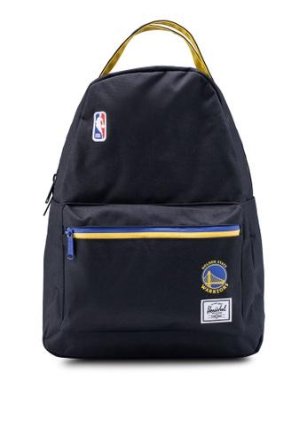 Herschel black Nova Mid Volume Backpack (Golden State Warriors) B4150AC42BF6D2GS_1