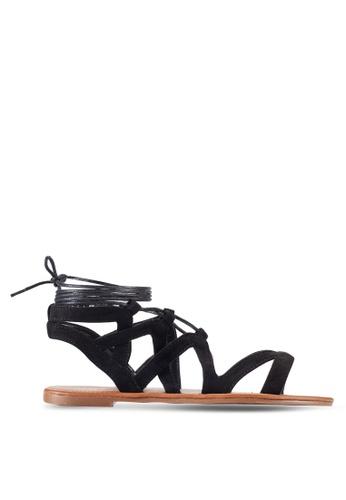 Something Borrowed black Cut Out Gladiator Sandals D44DFZZ3D38EDDGS_1
