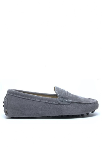 Twenty Eight Shoes grey Ladies Suede Loafers Shoes M88 25CE9SH7045056GS_1