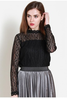 d079c227f5498 Lace On Point Top in Black 47022AACDE6D2AGS 1 Sophialuv ...