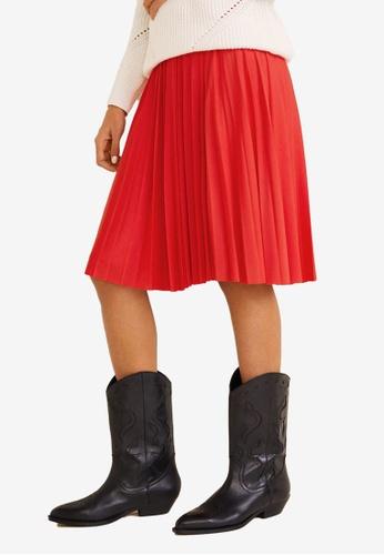 f94db37eded Shop MANGO Pleated Midi Skirt Online on ZALORA Philippines
