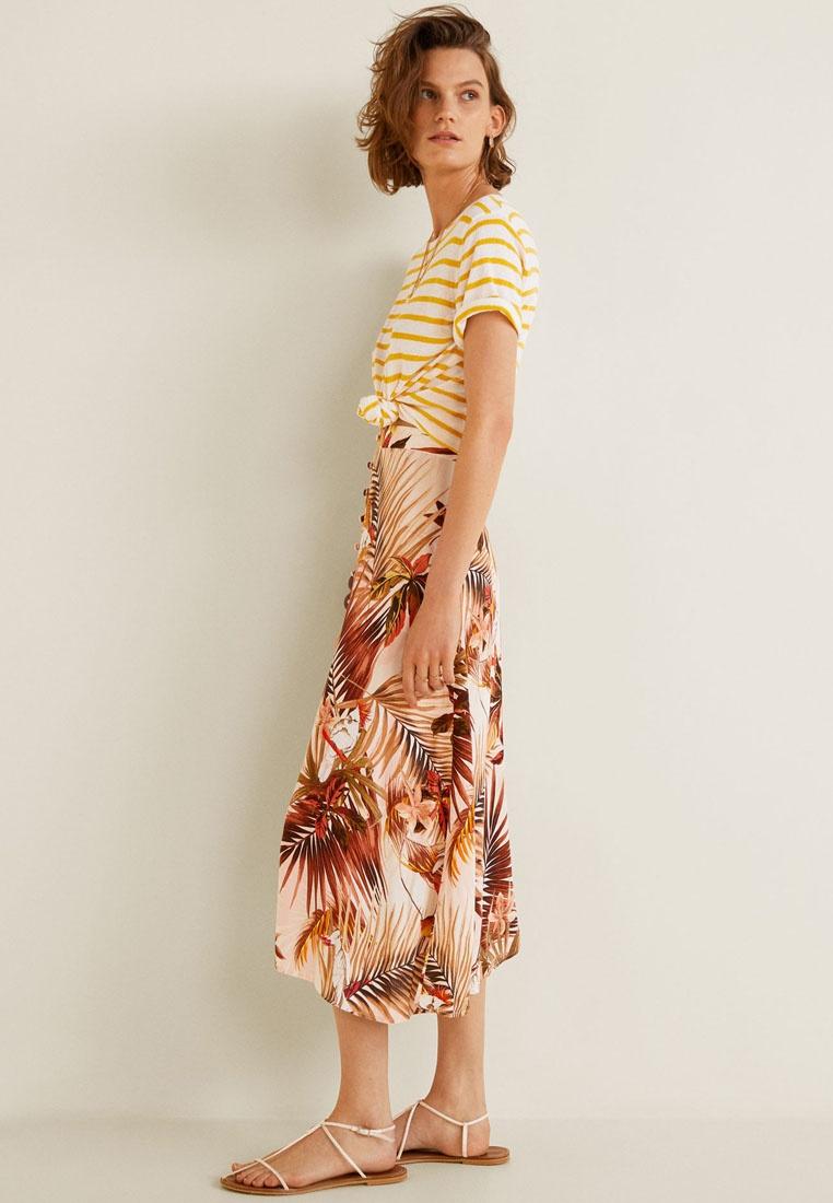Skirt Mango Long Printed White Natural wqnYaTPx