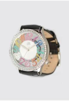 Calf Croco Pattern Band Watch