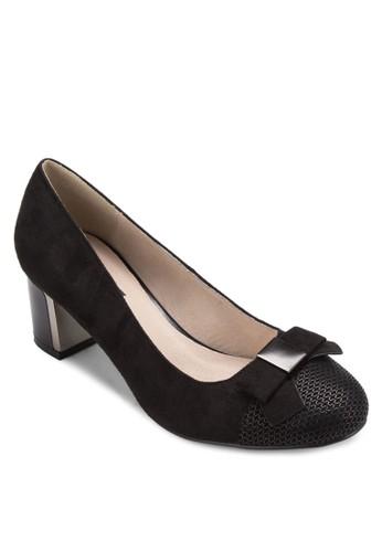 蝴蝶結金屬粗跟esprit 價位鞋, 女鞋, 鞋