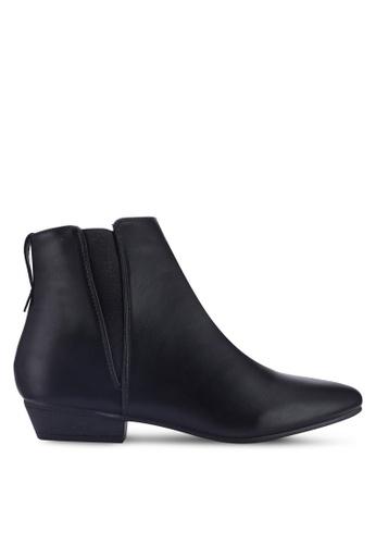 NOVENI black Faux Leather Boots B2D9FSH0027295GS_1