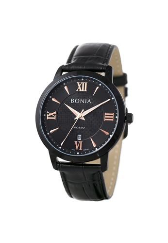 BONIA black Bonia Rosso - BR166-1733 - Jam Tangan Pria - Black DB1CFAC8ABC6DAGS_1