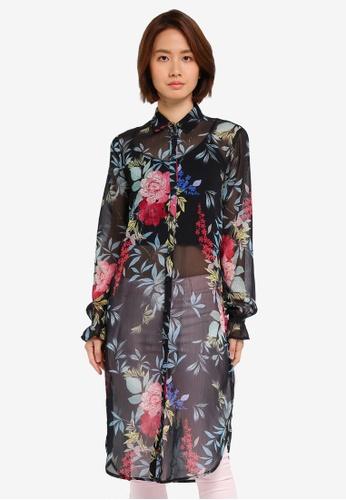 ESPRIT black Woven Long Sleeve Blouse 5BAEAAA1ED63EDGS_1