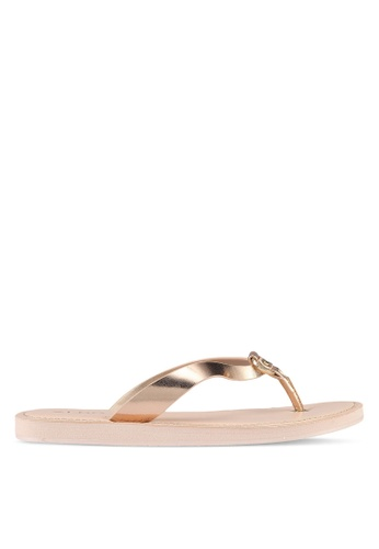 ALDO silver Prelinna Flat Sandals 7D472SHF8E7D10GS_1