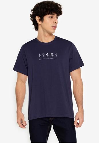 ZALORA BASICS navy Flower T-Shirt 1E7A5AA5CA05D5GS_1