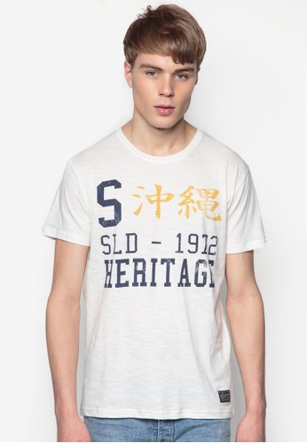 Bromley 文字設計純棉esprit 評價TEE, 服飾, 印圖T恤