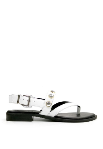 Kenneth Cole New York white TAMA STUD - Ankle Strap Sandal 1B8AASH0171BDEGS_1
